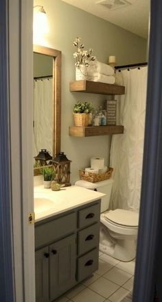 Best Bathroom Remodel Ideas on A Budget that Will Inspire You Impressive Tiny Bathroom Remodel Suggestions - A little restroom remodel on a budget plan. These low-cost restroom remodel suggestions for small bathrooms are quick and also easy. Bad Inspiration, Bathroom Inspiration, Bathroom Theme Ideas, Modern Farmhouse Bathroom, Vintage Farmhouse, Farmhouse Small, Farmhouse Ideas, Farmhouse Design, Farmhouse Budget