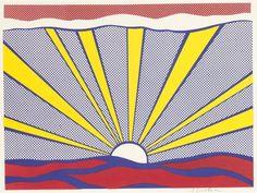 ROY LICHTENSTEIN - SUNRISE - KUNZT.GALLERY http://www.widewalls.ch/artwork/roy-lichtenstein/sunrise-3/ #Print
