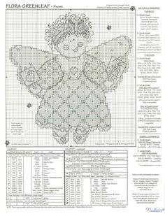 angel mummy cross stitch chart front