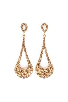 Crystal Lidia Earrings in Champagne