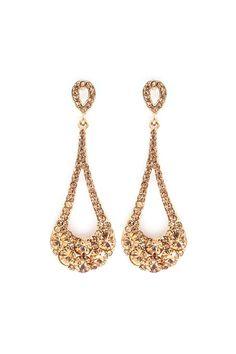 Crystal Lidia Earrings in Champagne