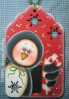 Peppermint Penguin ePattern #222005