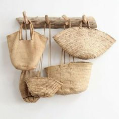 rattan bags - The latest in Bohemian Fashion! These literally go viral!