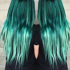 Electric green hair by @butterflyloftsalon Tag #modernsalon to get featured!! #hairgram #haircolor #greenhair #hairdressers #hairdressermagic