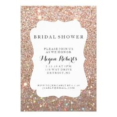 Invite - Bridal Shower Day Fab - Rose Gold