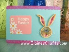 Quilled Rabbit Easter Card