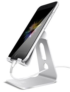 Adjustable Cell Phone Stand Lamicall iPhone Stand UPDATE VERSION Cradle Dock Holder For Switch iPhone 8 X 7 6 Plus 5 charging Accessories Desk all Android Smartphone Silver >>> See this great product. (This is an affiliate link) Desk Phone Holder, Phone Stand For Desk, Iphone Holder, Iphone Stand, Cell Phone Stand, Iphone Phone, Best Iphone, Apple Iphone, Iphone S6 Plus