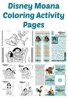 Who is excited for Moana to come to theaters. To celebrate, here are free Moana coloring pages and fun activity sheets. Moana hits theater this November.