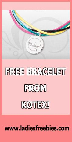 Get a Free Generation Know Bracelet from U by Kotex! Free Samples, Passion For Fashion, Latest Fashion, Lady, Bracelets, Bracelet, Arm Bracelets, Bangle, Bangles