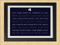 Irish House Blessing Poem Print Art by KayBee by KayBeeStudios, $15.00