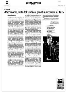 """""""Pronti a ricorrere al Tar"""" afferma Gianni Lettieri dopo l'ennesimo blitz del sindaco di Napoli che ha fatto approvare una delibera riguardante il patrimonio pubblico."""