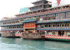Jumbo China floating restaurant in Hong Kong.