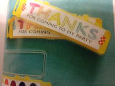 Thank you favor kids painting party
