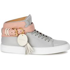 Buscemi Woman Embellished Two-tone Leather High-top Sneakers Off-white Size 40 Buscemi PrUvK