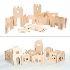 Waldorf Tree House and Modular Building Walls by manzanitakids Wooden Dollhouse Kits, Dollhouse Toys, Building Toys, House Building, Kids Wood, Wood Toys, Kids Furniture, Modular Furniture, Plywood Furniture