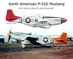 "P-51D Mustang - ""AI-3"", 99th FS, 332 N FG, 15th AF, 1945 Italia."