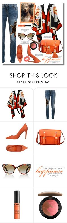 """""""Untitled #1149"""" by pesanjsp ❤ liked on Polyvore featuring Michaele Vollbracht, Dolce&Gabbana, Cartechini, Oliver Peoples, WALL, NYX, MAC Cosmetics and Miss Selfridge"""