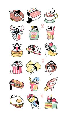 McDonalds Food Goals - - Mexican Food Fajitas - Food And Drink Poster Spot Illustration, Food Illustrations, Character Illustration, Cute Food Drawings, Kawaii Drawings, Printable Stickers, Cute Stickers, Food Stickers, Chibi Kawaii