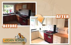 We can finish your kitchen from any colour or wood finish to any colour and finish you choose. The average kitchen re-spray takes between 3 and 5 days with minimum disruption to your home.