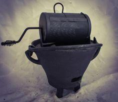 Antique COFFEE Bean ROASTER Barrel on stand Kaffeeröster Grilloir Café Tostador