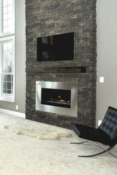 1000 Images About Stone Fireplace Accent Wall On