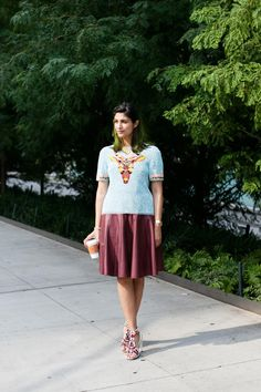graphic top | #fashion #streetstyle | http://lkl.st/1yEFqpa | See more on https://www.lookli.st #Looklist