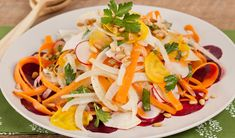 Shaved Vegetable Salad with White Balsamic Dressing