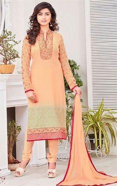 Luscious Apricot Ethnic Salwar Suit