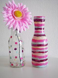 DIY: jarrones pintados con esmaltes de uñas