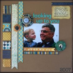 Looking up to you - Scrapbook.com  great way to use up scraps