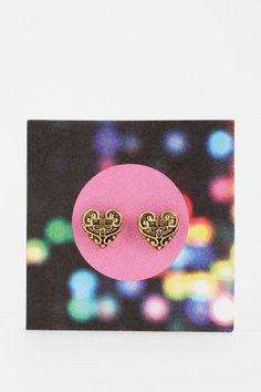 Sculpted Filigree Gift Card Earring