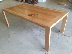 local made solid tasmanian oak hardwood dinning table also in blackwood blackbut