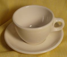 Vintage Homer Laughlin Best China Restaurant Ware White Cup and Saucer | eBay
