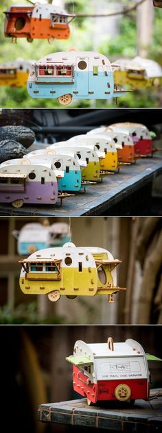 Even the birds need a vacation. Give them a place to relax with this camping inspired birdhouse #buildabirdhousekit #birdhousekits