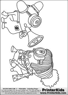 Despicable Me 2 - Minions #27 Bee Boo Bee Boo - Coloring Page