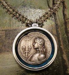Joan of Arc one of a kind necklace by Madonna Enchanted