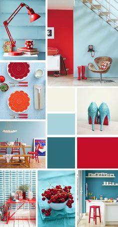 Colori a contrasto n.3: rosso_azzurro