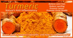 Turmeric works like ibuprofen in the body, but with no toxic side effects. It is great for reducing inflammation and joint pain, and helps prevent diseases!