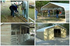 How to Turn an inexpensive carport into a large barn. Carports are sturdy inexpe. - shed plans - How to Turn an inexpensive carport into a large barn. Carports are sturdy inexpensive and built to - Custom Woodworking, Woodworking Projects Plans, Outdoor Projects, Home Projects, Diy Bench, Horse Barns, Horses, Building A Shed, Shed Plans
