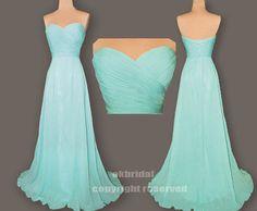 Tiffany blue dress, cheap bridesmaid dress, long prom dress, chiffon prom dress, cheap prom dress, RE163 on Etsy, $136.00