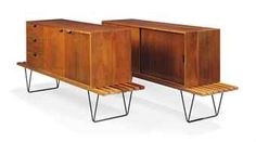 Robin Day for Hille. Interplan sideboards with benches. Mahogany and rosewood. Designed for Hille Lucienne Day, Robin Day, Design Reference, Sideboard, Vintage Furniture, Contemporary Design, Mid-century Modern, Mid Century, Cabinet