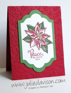 Stampin' Up! Reason for the Season Christmas Card | Julie's Stamping Spot | Bloglovin'