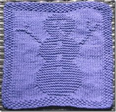 Snowman Dishcloth ~ free pattern
