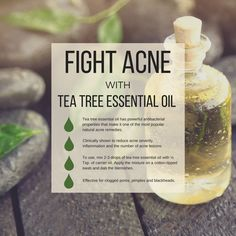 Tea tree essential oil is one of the best oils to treat pimples, black heads, and clogged pores. Blend with a carrier oil or unscented lotion and apply to the skin each day to stay blemish free. Essential Oils Pimples, Essential Oils For Face, Tea Tree Essential Oil, Organic Essential Oils, Essential Oil Uses, Young Living Essential Oils, Tea Tree Oil Uses, Tea Tree Oil For Acne, Haut Routine