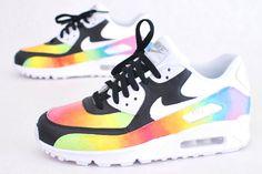 Custom Hand Painted 'Color Blast' Air Max 90 Running Shoe