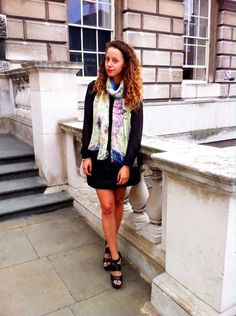 Spotted in a JANE CARR scarf at London Fashion Week