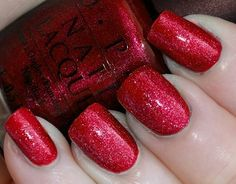 OPI red sparkle