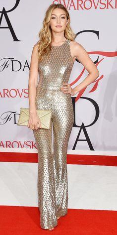 CFDA Awards 2015 Best Red Carpet Looks - Gigi Hadid in Michael Kors. #InStyle