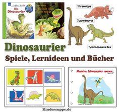 Dinosaurier Bücher Spiele Reime und Lieder