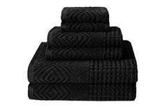"""Texere 100% Organic Cotton Jacquard Towels (6-Piece) Versatile Stylish Gifts This TexereSilk product is exclusively fulfilled by Amazon. Buy ONLY when indicated as being shipped by Amazon Set includes 2 bath towels, 2 hand towels, and 2 washcloths. Oversized bath towels are 30"""" x 56"""", hand towels are 16"""" x 30"""", and washcloths are 13"""" x 13"""". (Colors / photos of our products are displayed as accurately as possible. Visual variations are unavoidable due to differences in setting"""